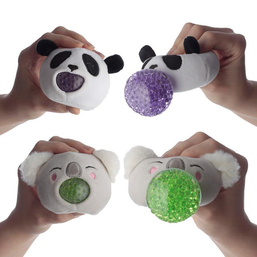 Cutiemals Plush Squeezy Zoo Animals Toy - Panda or Koala