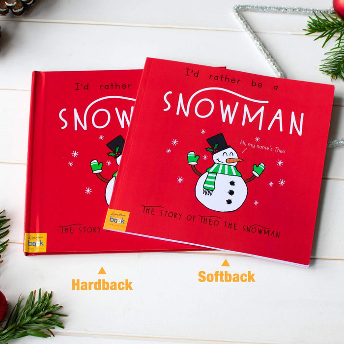 Personalised I'd Rather Be A Snowman Story Book