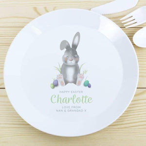 Personalised Bunny Plastic Plate from Pukkagifts.uk