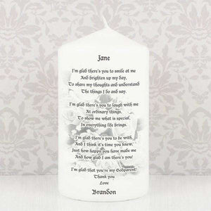 Personalised Godparent candle,Pukka Gifts