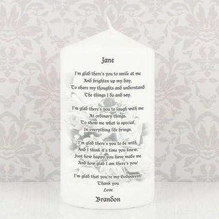 Personalised Godparent candle from Pukkagifts.uk