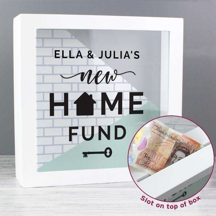 Personalised New Home Fund Money Box from Pukkagifts.uk