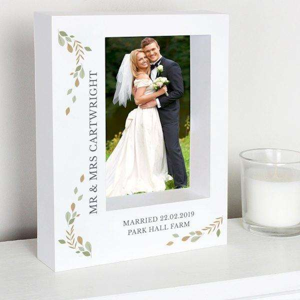 Personalised Fresh Botanical 5x7 Box Photo Frame from Pukkagifts.uk