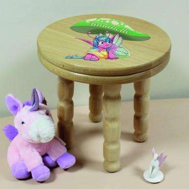 Personalised Pixie Wooden Stool from Pukkagifts.uk