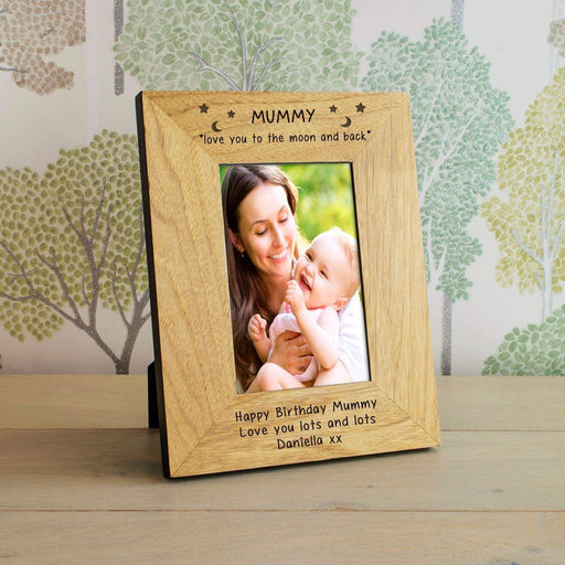 Personalised Mummy Love You To The Moon And Back Photo Frame from Pukkagifts.uk