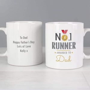 Personalised No.1 Runner Mug from Pukkagifts.uk
