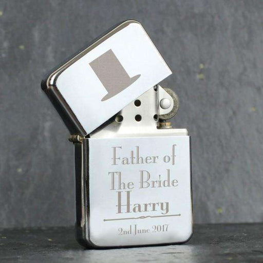 Personalised Decorative Wedding Father of the Bride Lighter from Pukkagifts.uk
