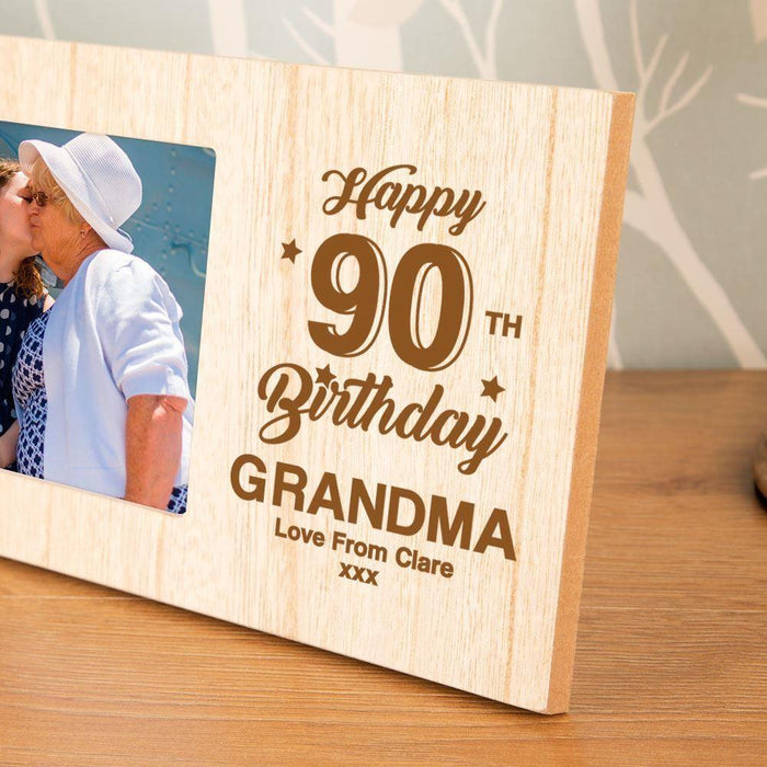 Personalised 90th Birthday Photo Frame