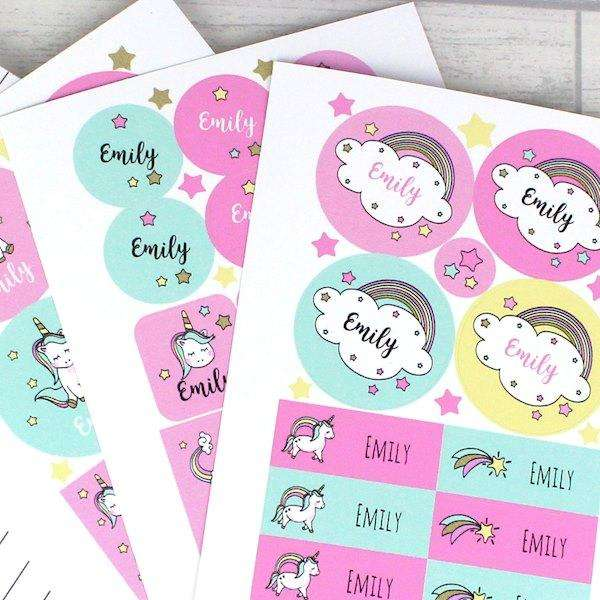 Personalised Baby Unicorn Sticker from Pukkagifts.uk