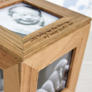 Personalised Photo Frame Keepsake Box from Pukkagifts.uk