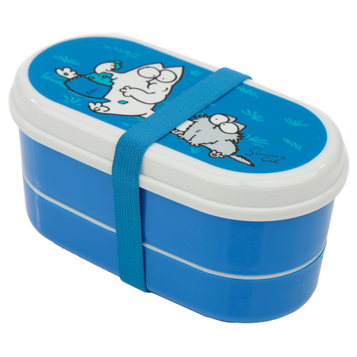 Simon's Cat Stacked Bento Lunch Box with Fork & Spoon