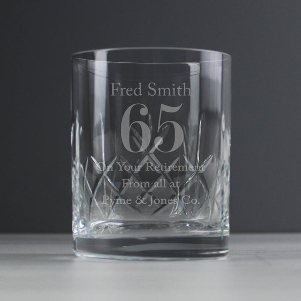 Personalised 65th Birthday Whisky Glass