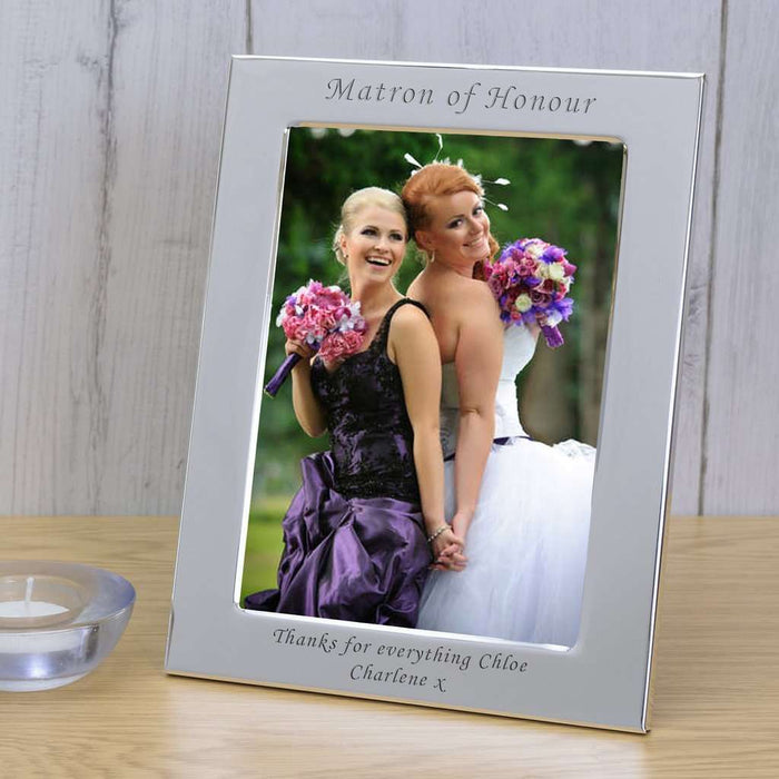 Personalised Silver Plated Matron of Honour Photo Frame from Pukkagifts.uk