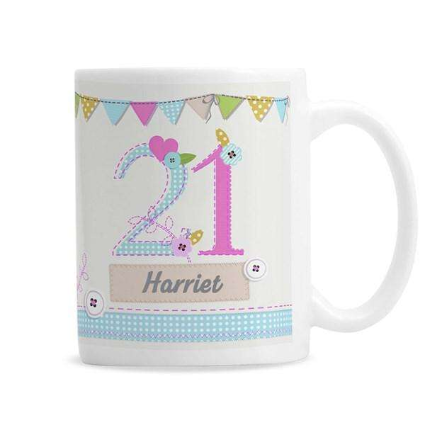 Personalised Birthday Age Female Mug from Pukkagifts.uk