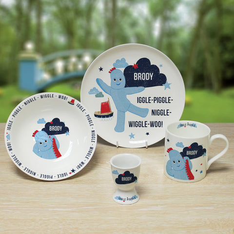 Personalised Igglepiggle In The Night Garden Breakfast Set