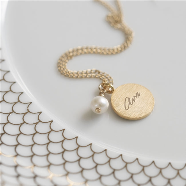 Personalised Pearl Pendant Necklace