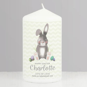 Personalised Easter Bunny Pillar Candle from Pukkagifts.uk