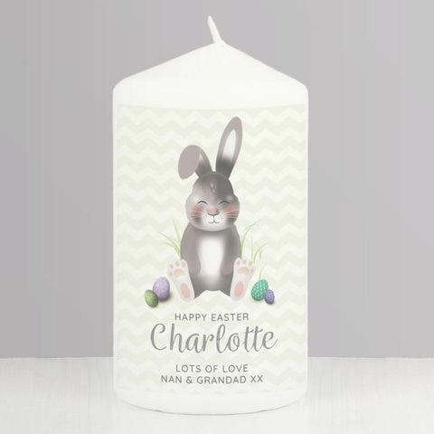 Personalised Easter Bunny Pillar Candle | Easter Gift
