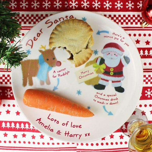 Personalised Felt Stitch Friends Christmas Eve Plate from Pukkagifts.uk
