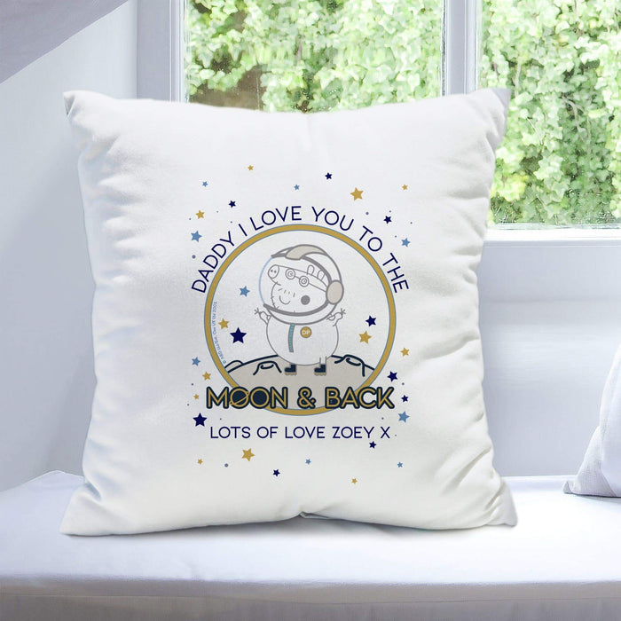 Personalised Peppa Pig™ Daddy Moon & Back Cushion