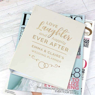 Personalised Happily Ever After Wedding Planner from Pukkagifts.uk