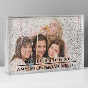 Personalised Glitter Shaker Photo Frame 4x6 from Pukkagifts.uk