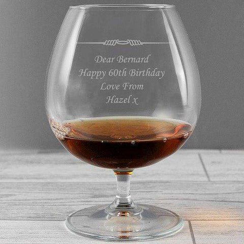 Personalised Decorative Brandy Glass,Pukka Gifts