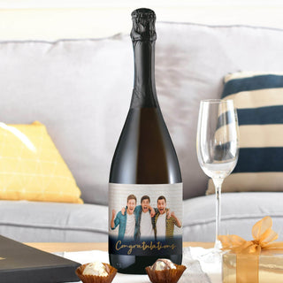 Congratulations Photo Upload Prosecco Bottle