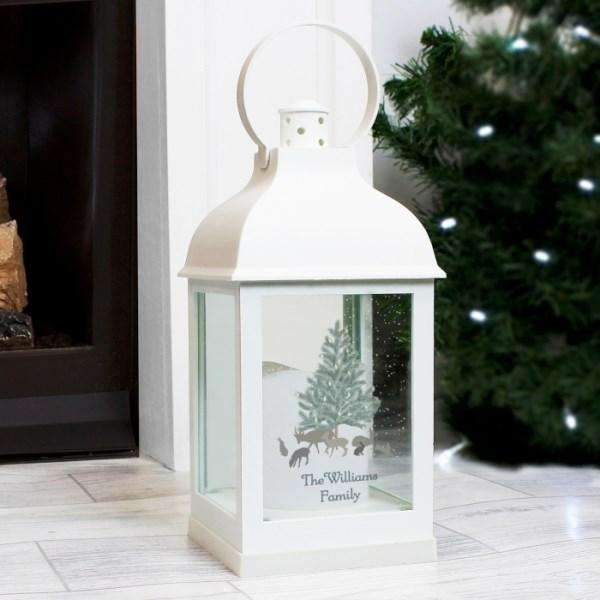 Personalised A Winter's Night White Lantern from Pukkagifts.uk