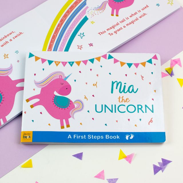 Personalised Unicorn Board Book from Pukkagifts.uk