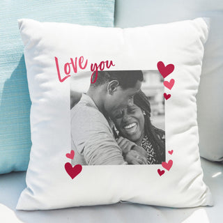 Love You Photo Upload Cushion