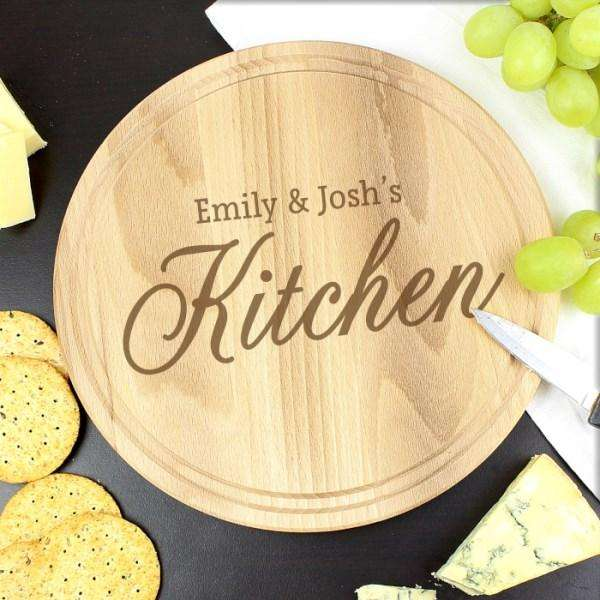 Engraved Kitchen Round Chopping Board,Pukka Gifts