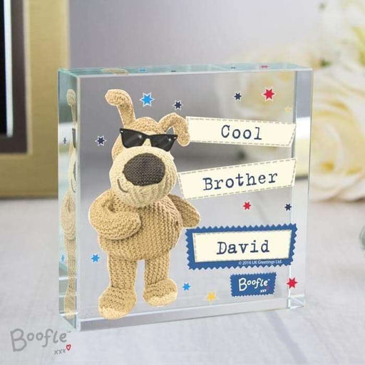 Personalised Boofle Stars Large Crystal Token from Pukkagifts.uk