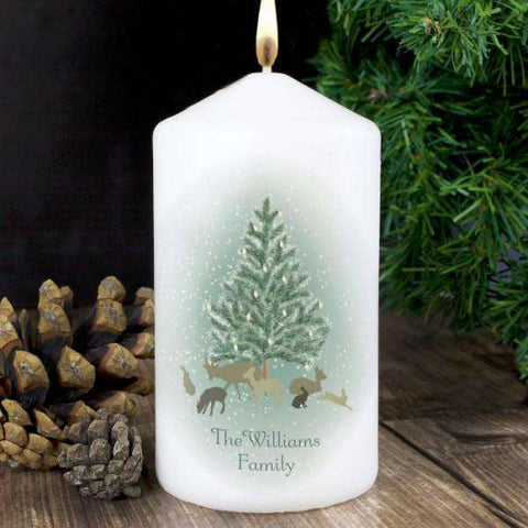 Personalised A Winter's Night Christmas Candle from Pukkagifts.uk