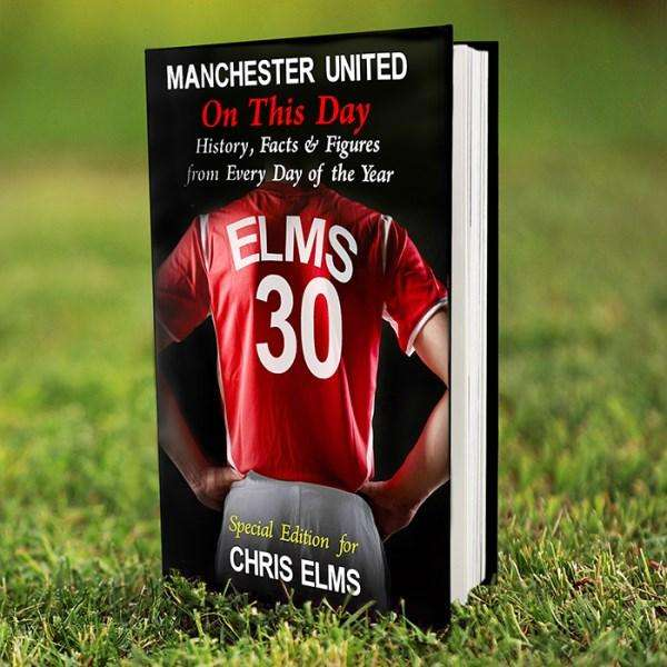 Personalised Manchester United On This Day Book from Pukkagifts.uk