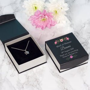 Wedding Party Butterfly Necklace With Personalised Box