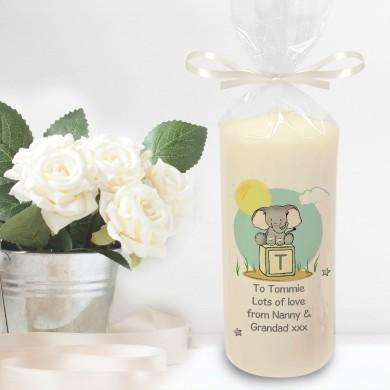 Elephant Safari Pillar Candle from Pukkagifts.uk