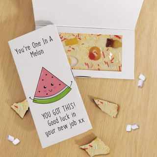Personalised You're One In A Melon White Chocolate Card