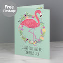 Personalised Flamingo Card