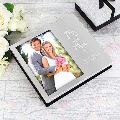 Personalised Mr and Mrs Photo Frame Album 4x6,Pukka Gifts