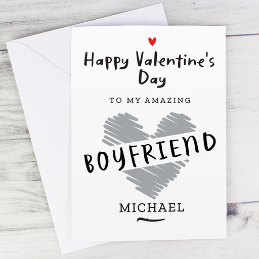 Personalised Happy Valentine's Day Card