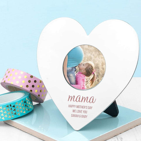 Personalised Mini Heart Photo Frame from Pukkagifts.uk