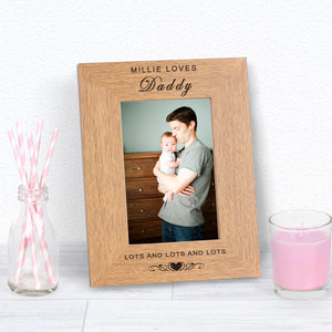 Personalised Loves Daddy Photo Frame from Pukkagifts.uk