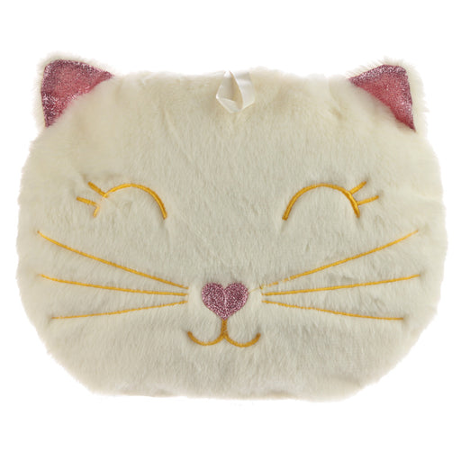 Plush Feline Fine Cat Hot Water Bottle Cushion 400ml