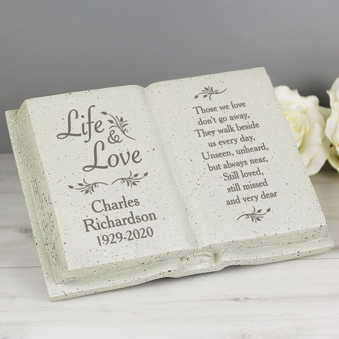 Personalised Graveside Life & Love Memorial Book
