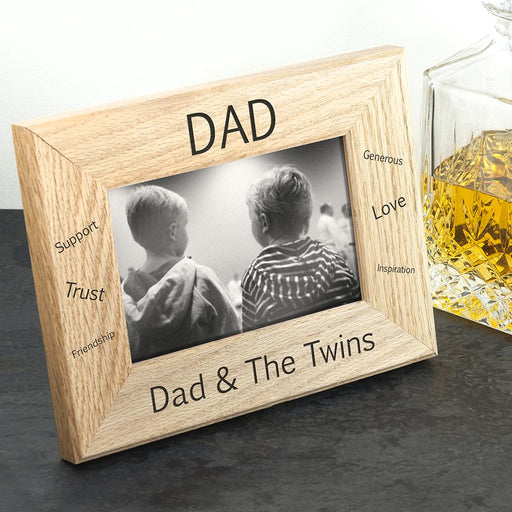 Personalised Sentiments Dad Photo Frame - Wordsworth Collection