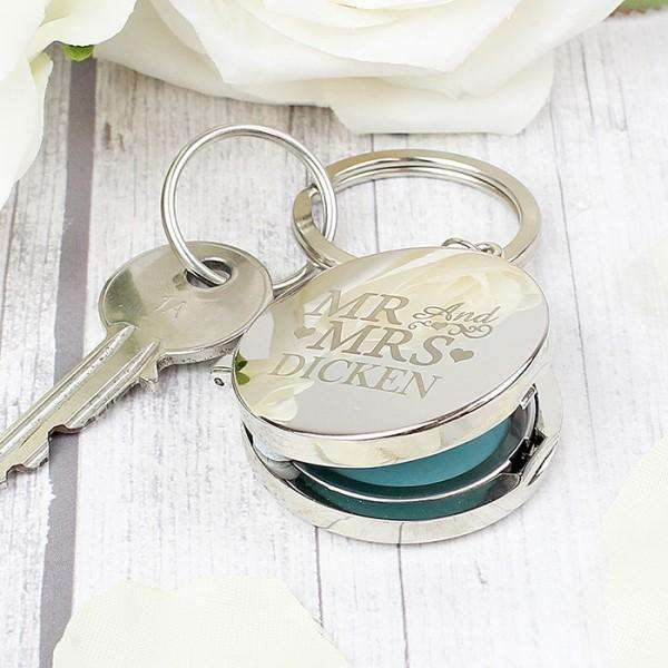 Personalised Mr and Mrs Photo Locket Keyring from Pukkagifts.uk