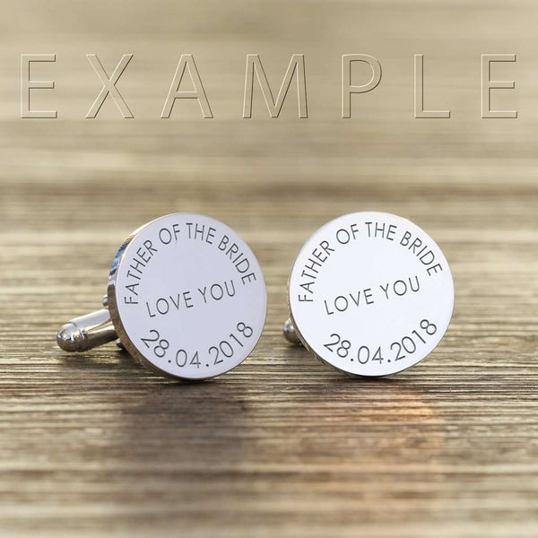 Engraved Any Message Personalised Cufflinks,Pukka Gifts