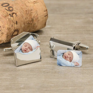 Personalised Photo Envelope Cufflinks from Pukkagifts.uk