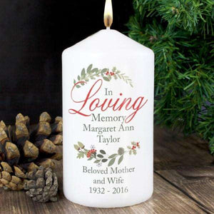 Personalised In Loving Memory Wreath Candle from Pukkagifts.uk
